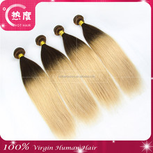DHL Fast shipping Full cuticle high quality bestselling 4/27 brazilian ombre blonde hair virgin straight human hair