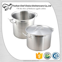 555 Stainless Steel Stock Pot Large Size Composite Bottom Suitable For Electric Induction Cooker Resturant & Hotel Kitchenware