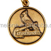 Antique Gold Alloy Metal St. Louis Cardinals Primary Cap Logo Charms For Diy Adjustable Bangle