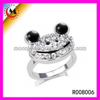 HOT SALE SILVER PLATED ANIMAL FROG PRINCE WEDDING RINGS