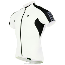 white color sublimation garment cycling