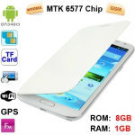 Android 4.1 Version, CPU Chip: MTK 6577, 1.2GHZ Dual Core, 1.0GHz, ROM: 8GB , RAM: 1GB, 5.5 inch Capacitive Touch Screen Mobile
