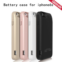 5800mAh External Power bank case pack backup battery charger case cover for iPhone 6s