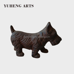 China Supplier Garden Decorative Cast Iron Dog Animal Statues For Sale