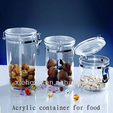 acrylic air tight container,storage bottle,jars supplier