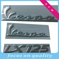 3D silver chrome sign,3D soft sticker, adhesive logo