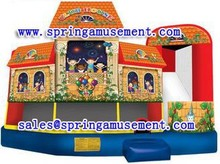 Top design and funny inflatable commercial jumper and slide, inflatable combo for festival, inflatable bouncer SP-C6019