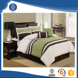 2015 wholesale patchwork embroidery european style bedding set green