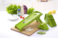 5 in1 multifunction V manual plastic spiral vegetable slicer