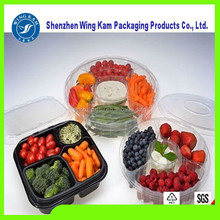 Plastic Food Grade PET Recyclable Material Fruits Container