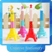 2015 fancy design iron tower shape promotional ball point pen