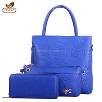 2015 facotry price Hot sale 3 pcs women bag set, fashion women handbag