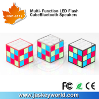 2015 Fashion LED Bluetooth Speaker Square Cube Bluetooth Speaker