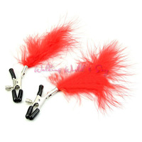 1 Pair New Feather Nipple Clips Breast Stimulate Nipple Clip Massage Fetish Flirt Toys Adult Game Products Erotic Toys For Women