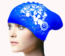 High quality silicone swim cap for long hair