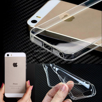 0.3mm Crystal Clear Transparent Soft TPU Case Cover For iphone 5 5S/iphone 4 4S