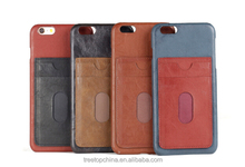 Leather texture plastic custom 4.7/5.5 inch mobile phone case for Iphone 6