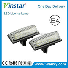 Super bright 100% waterproof 1year warranty nissa n led license lamp with E-mark approved