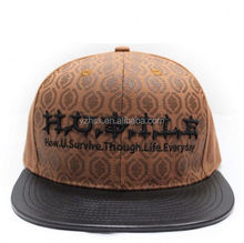 Best Prices Latest custom design custom printed snapback hats from manufacturer