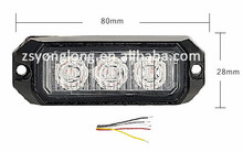 High quality 3 LED flashing police light strobe light YL-173-3