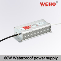 Professional waterproof 60w 24v waterproof 2.5a led driver