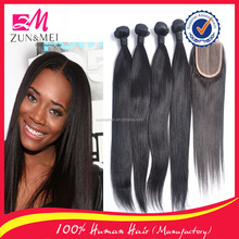 2016 new products 100 percent human hair brazilian silky straight remy human hair weft