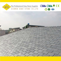 Grey color material slate roof tiles