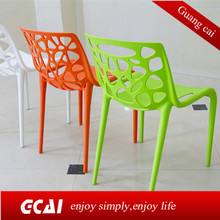 Plastic chair hollow dining chairs made in malaysia