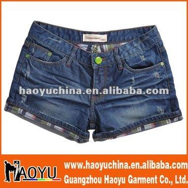 Moda de las ventas calientes niñas pantalones cortos de jean ( HY412 )