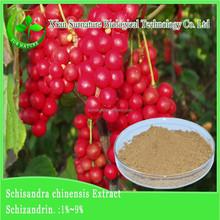 High quality guaranteed fructus schisandrae/ 33% Schisandra berry p.e. for health care extract powder cas 7432-28-2