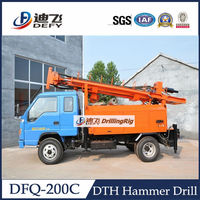 200m drilling depth, DFQ-200C Truck Mounted rock bolt pneumatic drilling rig