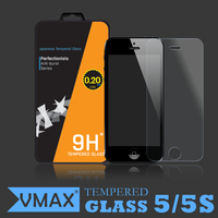 Wholesale Service !! 0.2mm 2.5D 9H Hardness Asahi Tempered glass screen protector for iPhone 5 5c 5s / OEM Tempered glass