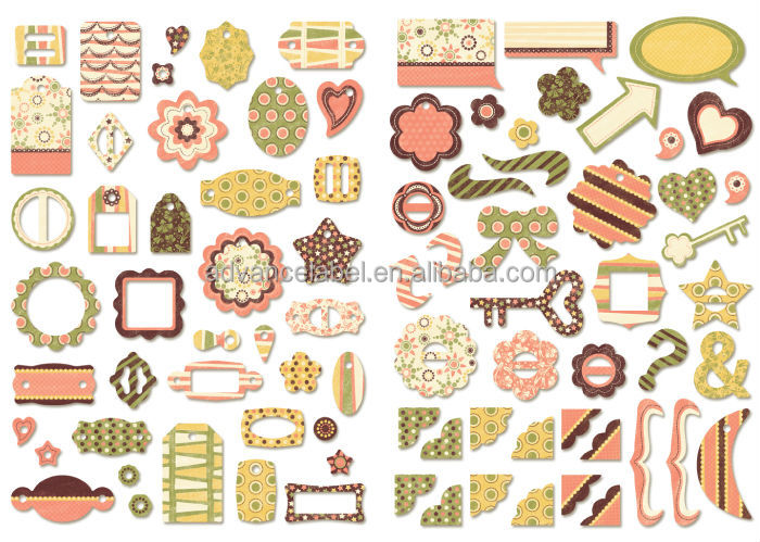 Chipboard Shapes Ideas ~ Diy craft gift box set chipboard shapes tags