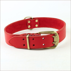 30.3inch*4.0CM soft large real leather dog collar two-button collar dog leashes for large dog