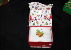 Christmas gift towel box wholesale from alibaba China supplier