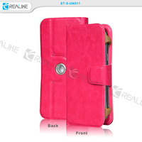 360 degree rotation Newest 2015 universal mobile phone case for all kinds of phones flip leather cover