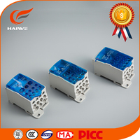 Newest Cu/Al Power Distribution Terminal Block for Din rail or screw fixing