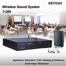 T-206 USB SD card FM stereo amplifier wireless conference microphone