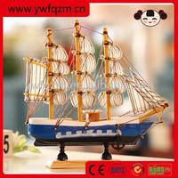 Best sell professional mini wooden boat handicraft
