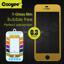 "Cell phone screen protector Colorful tempered glass screen protector for iphone 5 5s iphone 6 (0.3mm 4.7"" 2.5D 9H HD Clear)"