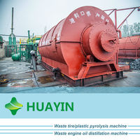 10T Waste Tire Plastic Recycling Plant To Get Pyrolysis Oil