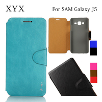 popular flip case cover for samsung galaxy j5, for j5 mobile phone