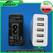 New design desktop charger with 5USB ports and fast charging for mobile phone/ipad/samsung/laptop