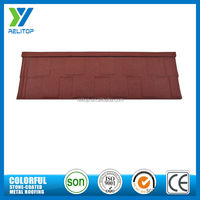 Stone featured red chinese cheap corrugated color roofing sheet