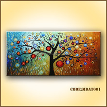 High quality oil painting golden tree