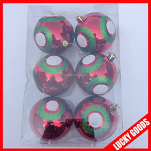 various colors and designs wholesale christmas ball shiney finished