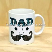 porcelain coffee mugs with Very funny design Moustache