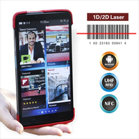 Cilico C7 Android handheld tablet PC 1D or 2D barcode scanner and HF UHF RFID reader writer for optional