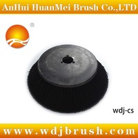 Sweeper side brush for road cleaning machine