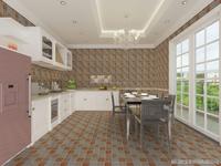 Parquet Tile Colorful Ceramic Floor Tile Kitchen Wall Tiles 300*300mm